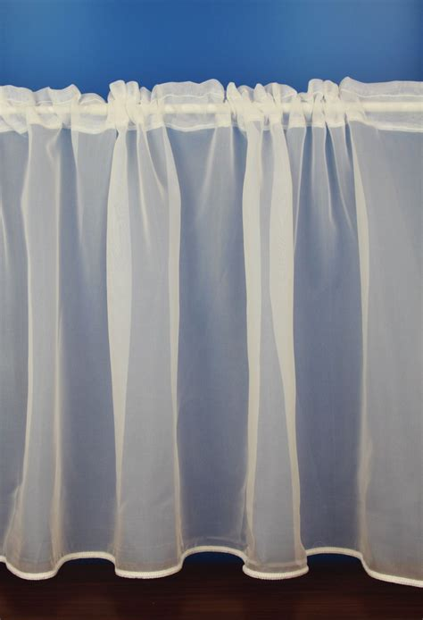 Macey Cream Plain Voile Cafe Net Curtains Woodyatt Curtains