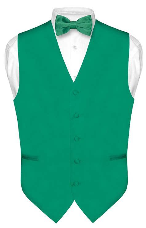 Green Vest s emerald green dress vest bowtie set for suit or tuxedo medium ebay