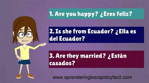 preguntas con verbo to be ejemplos preguntas con el verbo to be yes no questions verb to