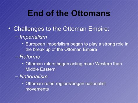 when did the ottoman empire break up world history imperialism