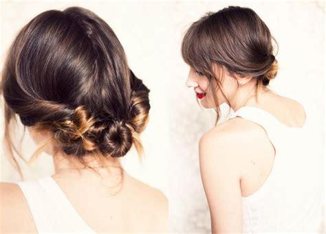 diy hairstyles casual vintage inspired bridal updo diy in 5 minutes onewed