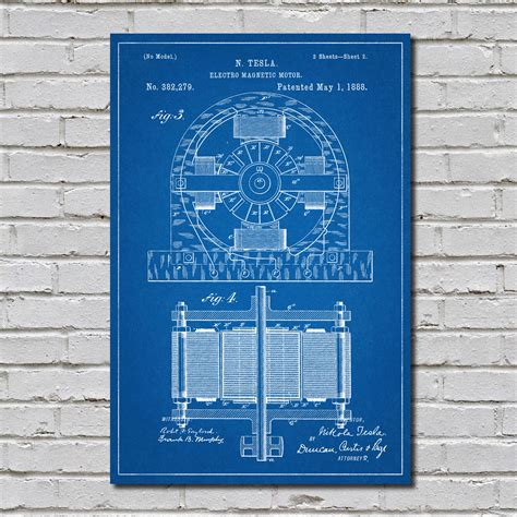 tesla motor patent tesla motor patent patentprints touch of modern