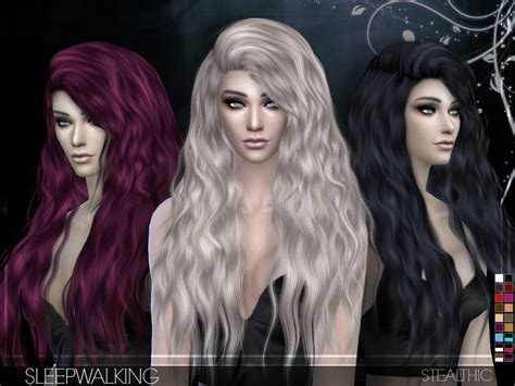stealthic vapor female hair the sims resource sims 4 hairs stealthic sleepwalking hairstyle