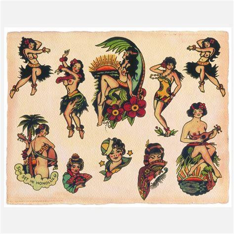 tattoo flash images hula girl tattoo google search tattoos pinterest