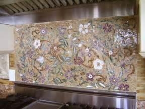 superb Pictures Of Mosaic Tile Backsplash #1: Mosaic-floral-backsplash1.jpg