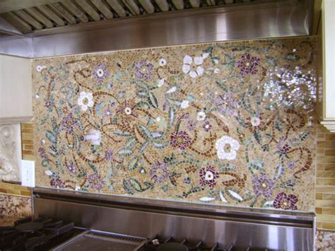 mosaic kitchen backsplash mosaic floral backsplash designer glass mosaics