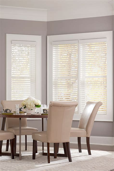 black and white l shades 2 quot economy faux wood blind colors snow and wood blinds