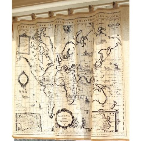 map shower curtains world map curtain