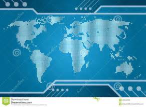 world tech map royalty free stock images image 20454589