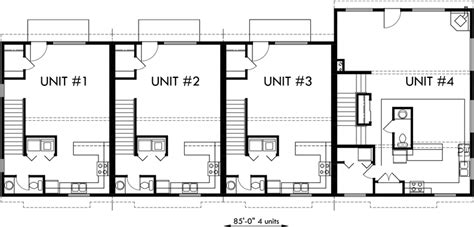 quadplex plans 4 plex plans fourplex with owners unit quadplex f 551