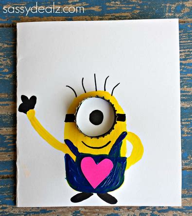 how to make a minion card quot you re one in a minion quot card idea crafty morning