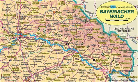 bavaria germany map map of bavarian forest region in germany bavaria welt