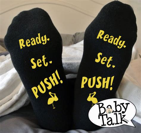 Ready Set Deliver by Labor And Delivery Ready Set Push Maternity Socks