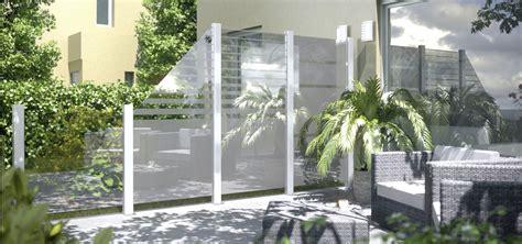 moderner sichtschutz für terrasse idee windschutz balkon