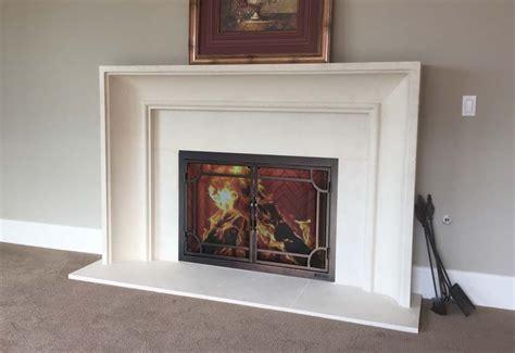 precast mantelsfireplace surroundsiron fireplace doors  screens  san diego