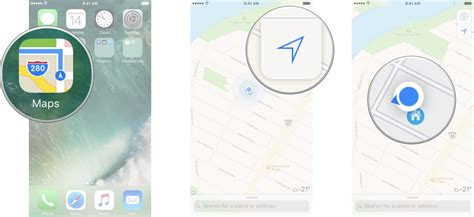 how to name and save locations with maps on iphone and