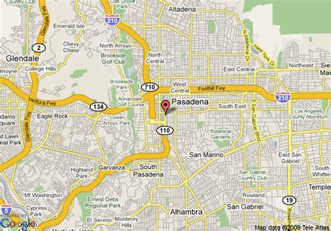 pasadena california map map of pasadena inn pasadena