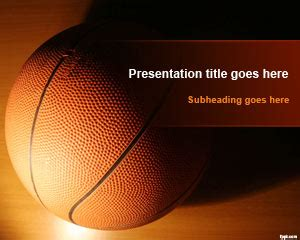 basketball powerpoint template free free sport powerpoint templates