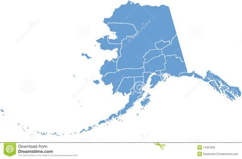 royalty free map alaska state map by counties royalty free stock image