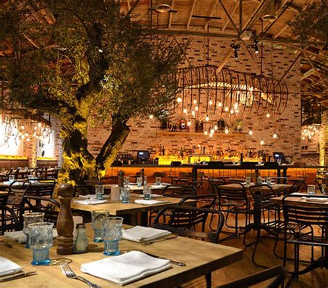 Seafood restaurant garden InDecora
