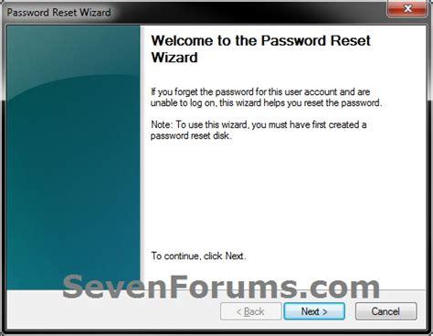 windows reset password shortcut password reset wizard shortcut create windows 7 help