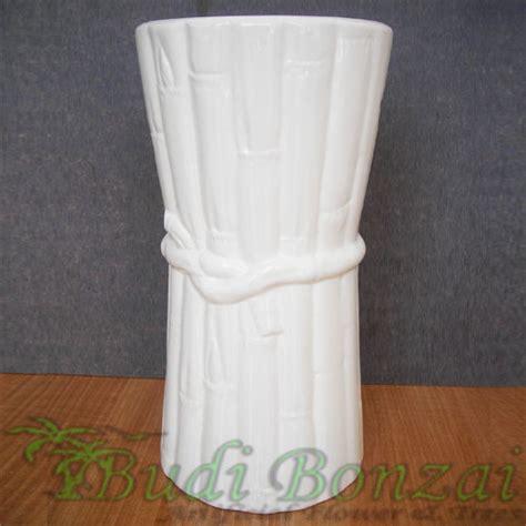 Vas Bunga Keramik Bambu vas keramik bambu ikat ts budi bonzai