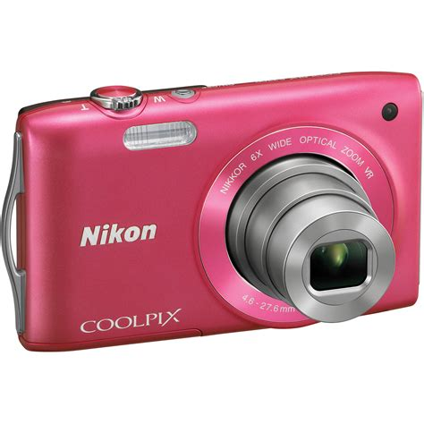 Lensa Nikon Coolpix S3300 used nikon coolpix s3300 digital pink 26313b b h photo