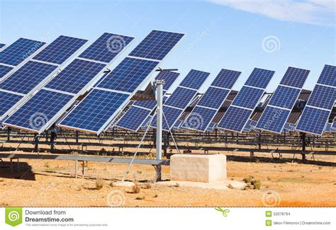 Electric Solar Panel System Stock Photo Image 52078794