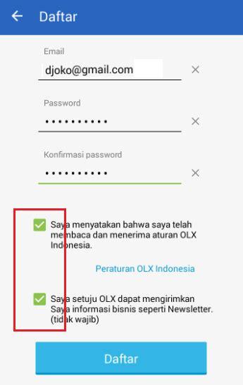 cara buat akun paypal lewat android cara mudah buat akun olx co id lewat android untuk