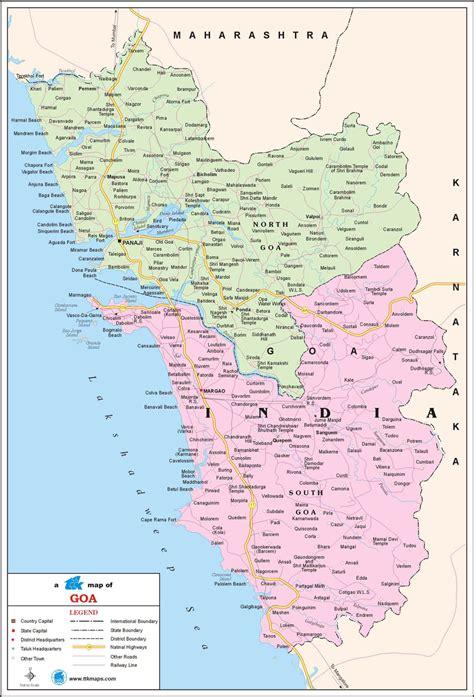Goa map image - Download Free Printable Graphics