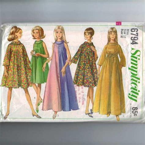 pattern trapeze dress 1960s vintage sewing pattern simplicity 6794 trapeze dress