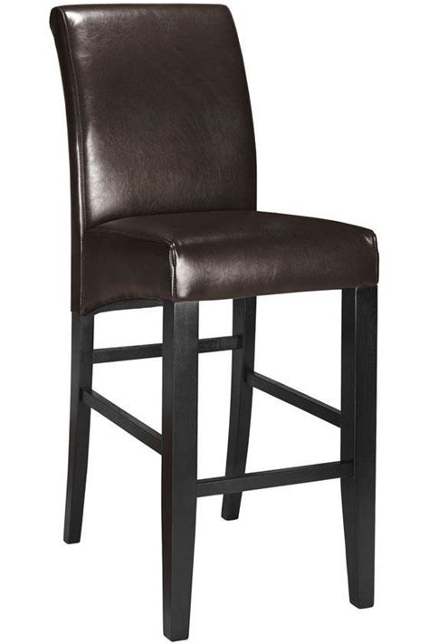 Leather Parson Bar Stools by Parsons Rolled Back Leather Bar Stool Got Em For 120