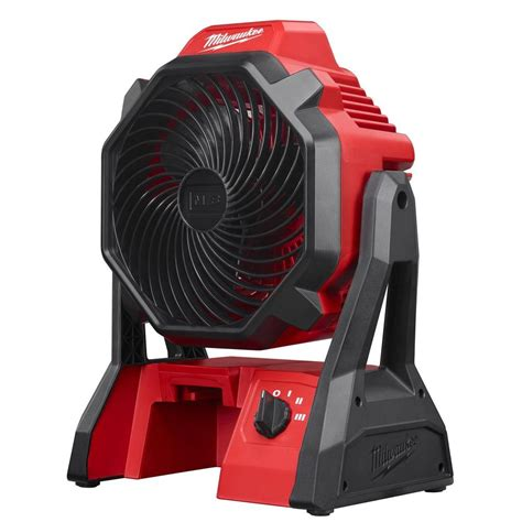 Battery Fan Home Depot by Milwaukee M18 18 Volt Lithium Ion Cordless Jobsite Fan
