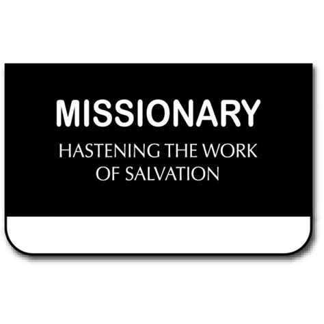 %name Mormon Missionary Name Tag Template