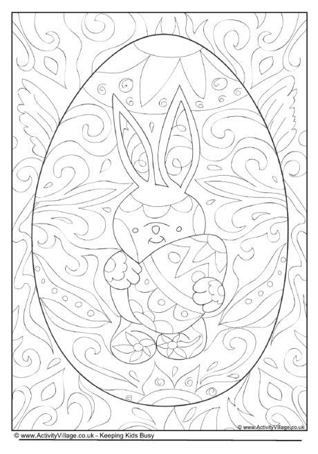 intricate easter coloring pages easter doodle colouring page