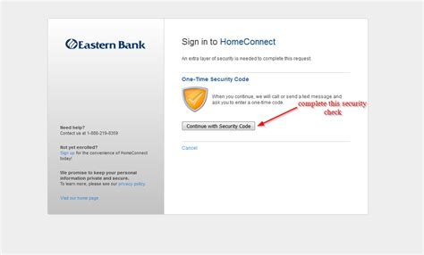 eastern bank homeconnect banking