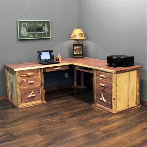 rustic l shaped computer rustic l shaped computer desk