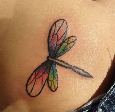 watercolor tattoo permanent watercolor dragonfly permanent ink