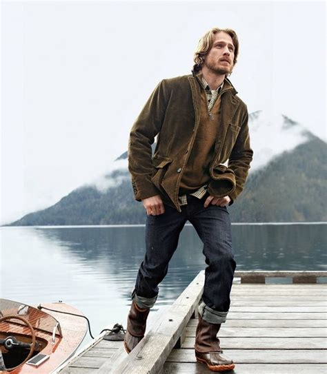 Rugged Outdoor Wear Brown Boots Blue Brown Jacket Brown Sweater Plaid Button My Style Pinterest