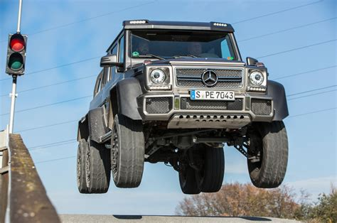 Mercedes 6x6 Truck 2014 Mercedes G63 Amg 6x6 Front Mid Air Jump Photo 5