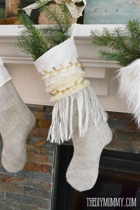pattern for burlap christmas stockings free burlap christmas stocking patterns images