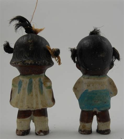 black bisque doll japan pair of black americana bisque dolls from japan