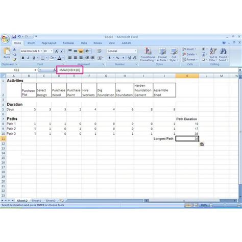 critical path template how to use excel in the critical path method cpm