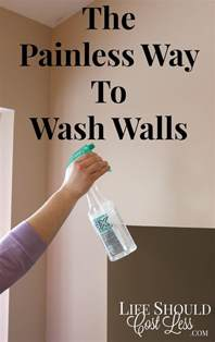 the painless way to wash walls should cost less