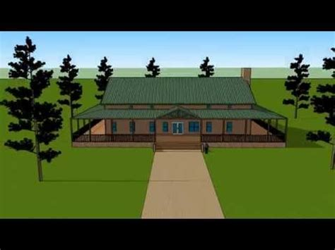 Ranch Style Home Floor Plans by Huge Barndominium 174 With Wrap Around Porch Youtube