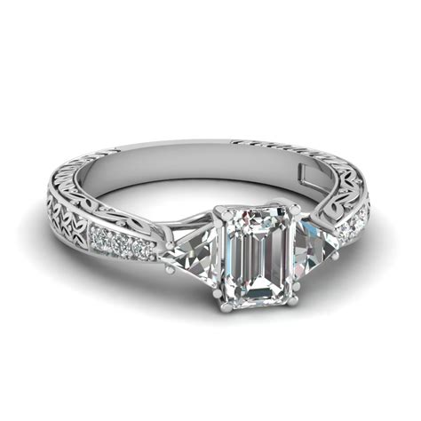 emerald cut vintage engagement rings wedding promise