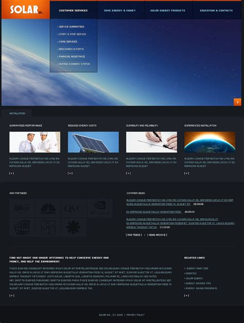 Solar Energy Website Template Web Design Templates Website Templates Download Solar Energy Solar Website Templates
