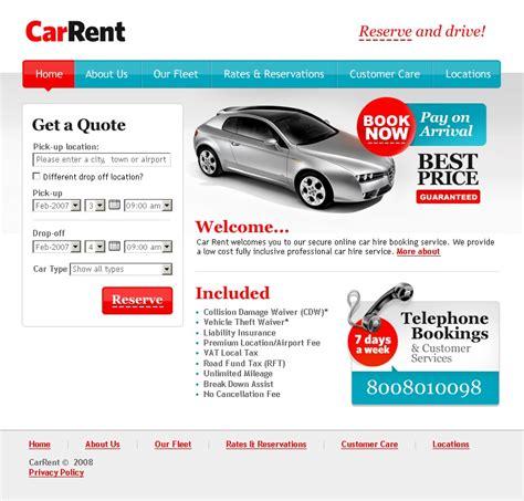 Car Rental Website Template 18260 Car Rental Website Template