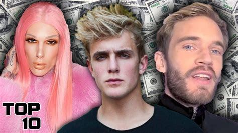 top 10 richest youtubers that made millions 2018 jake paul jeffrey pewdiepie