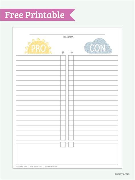 pros and cons list template pro con list template 28 images best photos of